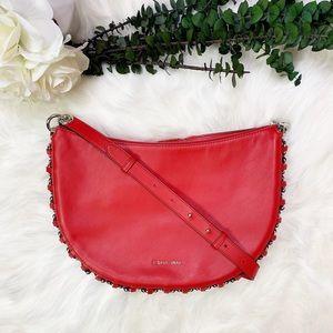 Michael Kors Piper Leather Messenger Bag